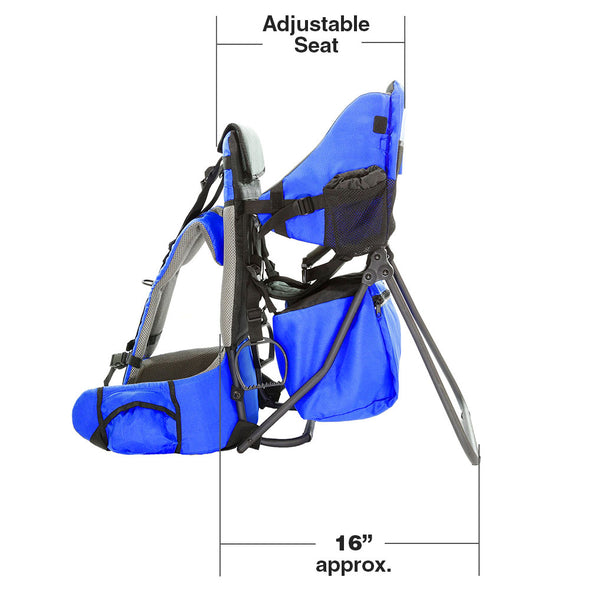 ClevrPlus Hiking Child Carrier Backpack Cross Country, Blue (CL_CRS600211) - Alt Image 6