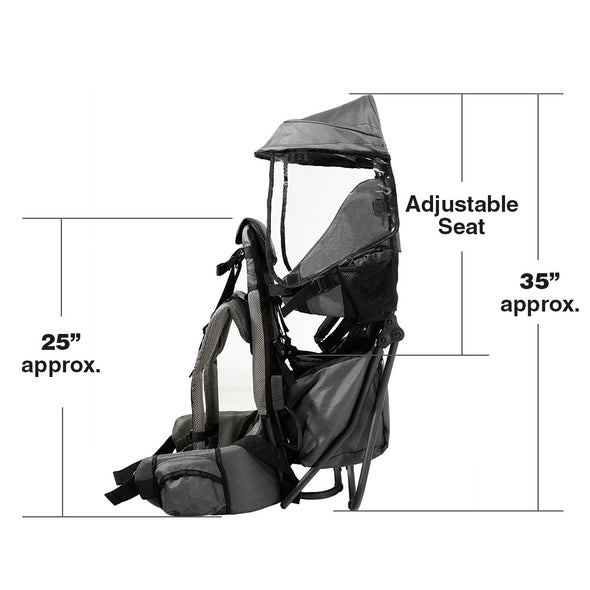 ClevrPlus Hiking Child Carrier Backpack Cross Country, Grey (CL_CRS600213) - Alt Image 5