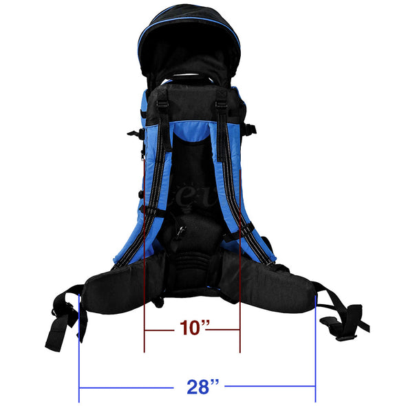 ClevrPlus Deluxe Lightweight Baby Backpack Child Carrier, Blue (CL_CRS600221) - Alt Image 7