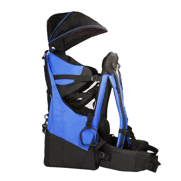 ClevrPlus Deluxe Lightweight Baby Backpack Child Carrier, Blue (CL_CRS600221) - Alt Image 1