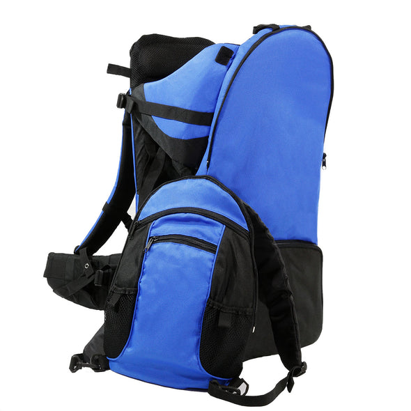 ClevrPlus Deluxe Lightweight Baby Backpack Child Carrier, Blue (CL_CRS600221) - Alt Image 2