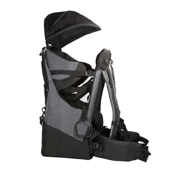 ClevrPlus Deluxe Lightweight Baby Backpack Child Carrier, Grey (CL_CRS600223) - Alt Image 1