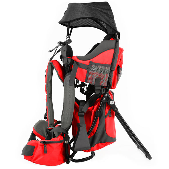 ClevrPlus Baby Backpack Hiking Child Carrier, Red (CL_CRS600232) - Alt Image 1