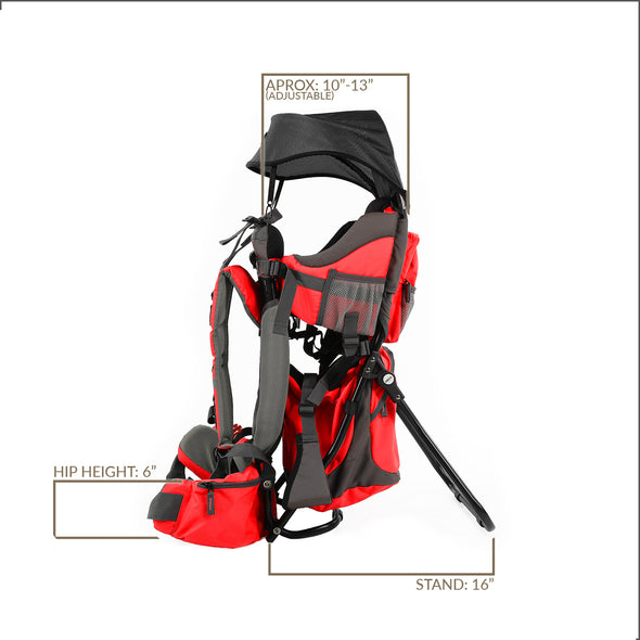 ClevrPlus Baby Backpack Hiking Child Carrier, Red (CL_CRS600232) - Alt Image 7