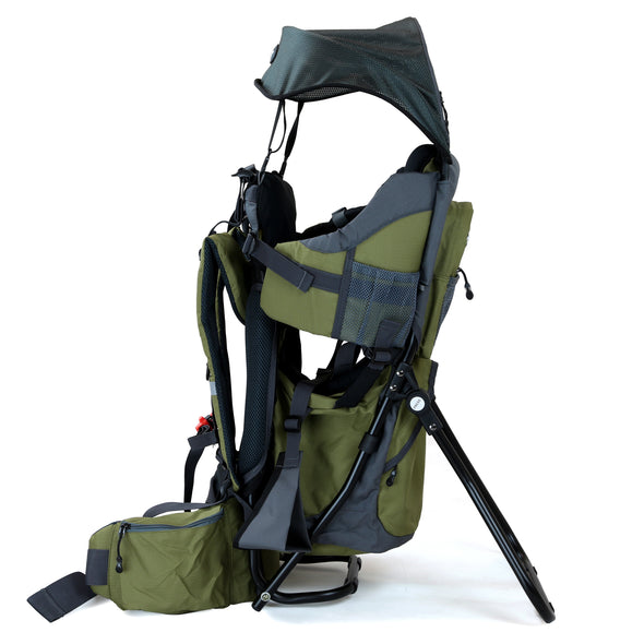 ClevrPlus Baby Backpack Hiking Child Carrier, Army Green (CL_CRS600234) - Alt Image 1