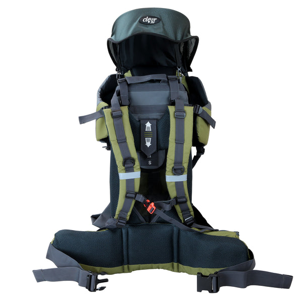 ClevrPlus Baby Backpack Hiking Child Carrier, Army Green (CL_CRS600234) - Alt Image 2