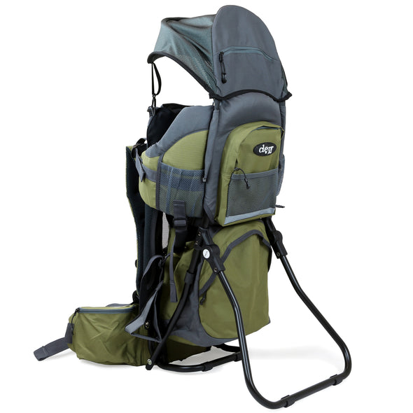 ClevrPlus Baby Backpack Hiking Child Carrier, Army Green (CL_CRS600234) - Alt Image 5