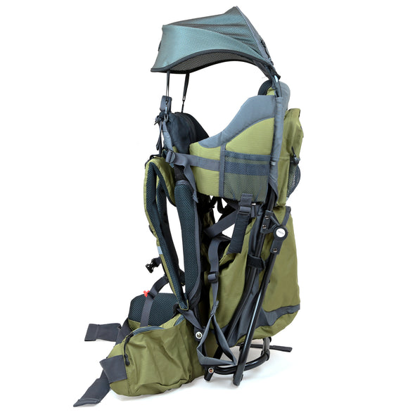ClevrPlus Baby Backpack Hiking Child Carrier, Army Green (CL_CRS600234) - Alt Image 7