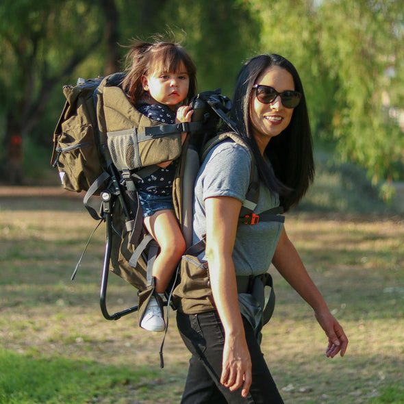 ClevrPlus Urban Explorer Baby Backpack Cross Country Child Carrier with Detachable Bag, Green (CL_CRS600241) - Alt Image 2