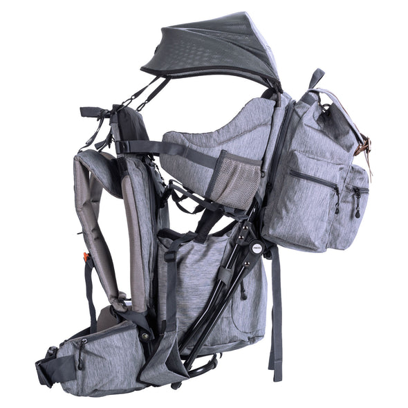 ClevrPlus Urban Explorer Baby Backpack Cross Country Child Carrier with Detachable Bag, Gray (CL_CRS600242) - Alt Image 3