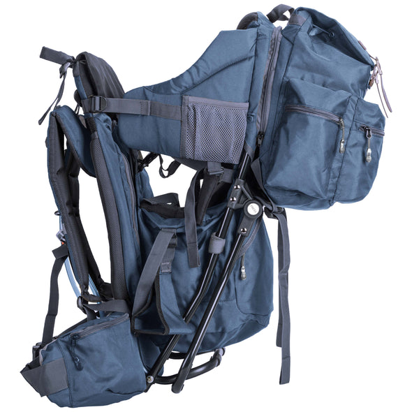 ClevrPlus Urban Explorer Baby Backpack Cross Country Child Carrier with Detachable Bag, Blue (CL_CRS600243) - Alt Image 2
