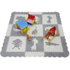 "Clevr Grey XLARGE 1/2"" Thick Interlocking EVA Foam Mat for Kids Baby Play Mats, 78"" X 78,  41 Sqft, 9 pcs, Safari Animal (CL_CRS601202) - Main Image"