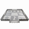 "Clevr Grey XLARGE 1/2"" Thick Interlocking EVA Foam Mat for Kids Baby Play Mats, 78"" X 78,  41 Sqft, 9 pcs, Safari Animal (CL_CRS601202) - Alt Image 3"