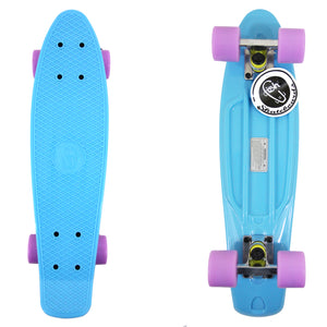"22"" Pastel Blue Fish Skateboard"