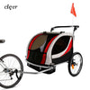 ClevrPlus Clevr Deluxe 3-in-1 Double Seat Bike Trailer Stroller Jogger for Child Kids, Red (CL_CRS802606) - Alt Image 1