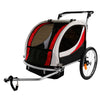 Clevr Deluxe 3-in-1 Double Seat Bike Trailer Stroller Jogger for Child Kids, Red (CL_CRS802606) - Alt Image 7