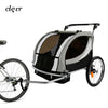 Clevr Deluxe 3-in-1 Double Seat Bike Trailer Stroller Jogger for Child Kids, Grey (CL_CRS802608) - Alt Image 1