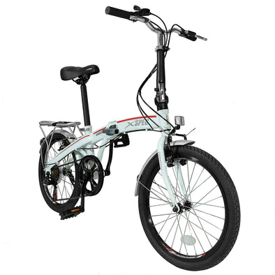 "Xspec 20"" 7 Speed Folding Compact City Commuter Bike, White (CL_CRS804602) - Main Image"