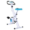Xspec Foldable Stationary Upright Exercise Folding Workout Indoor Cycling Bike, Blue (CL_CRS804702) - Main Image