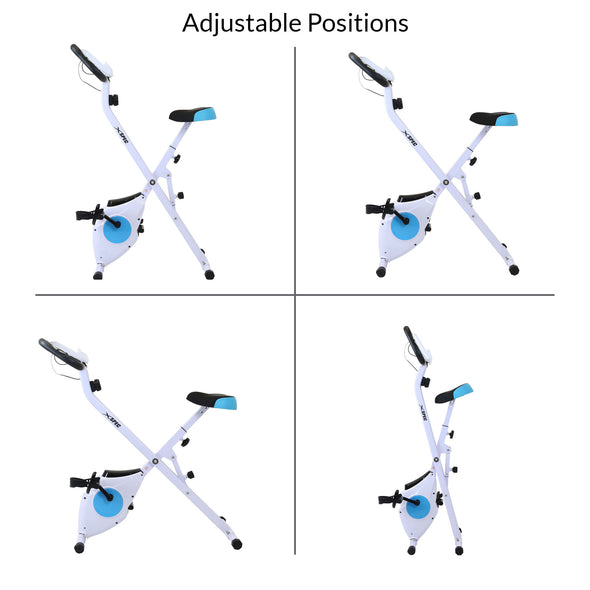 Xspec Foldable Stationary Upright Exercise Folding Workout Indoor Cycling Bike, Blue (CL_CRS804702) - Alt Image 6