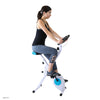Xspec Foldable Stationary Upright Exercise Folding Workout Indoor Cycling Bike, Blue (CL_CRS804702) - Alt Image 1