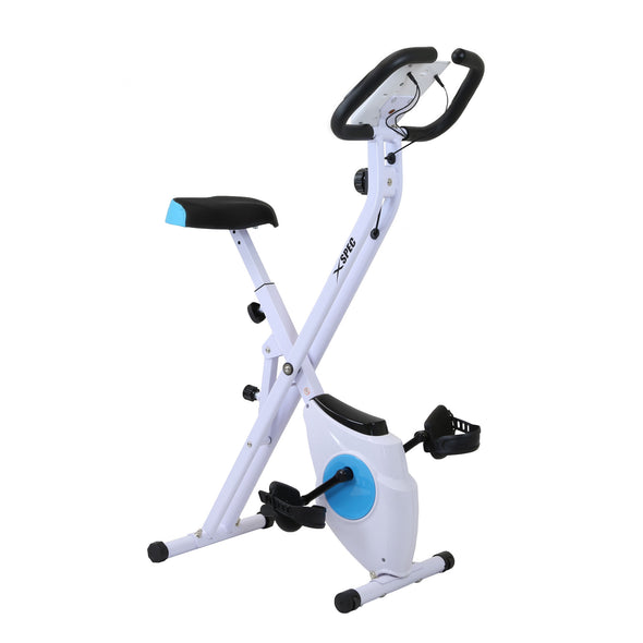 Xspec Foldable Stationary Upright Exercise Folding Workout Indoor Cycling Bike, Blue (CL_CRS804702) - Alt Image 3
