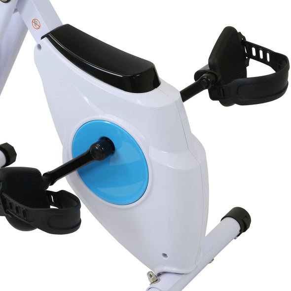 Xspec Foldable Stationary Upright Exercise Folding Workout Indoor Cycling Bike, Blue (CL_CRS804702) - Alt Image 4