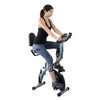 Xspec Recumbent Upright Foldable Exercise Bike with Resistance Bands, Black (CL_CRS804704) - Alt Image 2