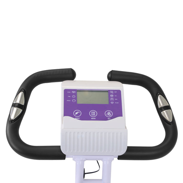Xspec Foldable Stationary Upright Exercise Folding Workout Indoor Cycling Bike, Purple (CL_CRS804708) - Alt Image 5