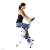 Xspec Foldable Stationary Upright Exercise Folding Workout Indoor Cycling Bike, Purple (CL_CRS804708) - Alt Image 1