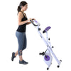 Xspec Foldable Stationary Upright Exercise Folding Workout Indoor Cycling Bike, Purple (CL_CRS804708) - Alt Image 2