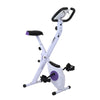 Xspec Foldable Stationary Upright Exercise Folding Workout Indoor Cycling Bike, Purple (CL_CRS804708) - Alt Image 3