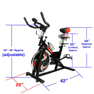 Xspec Xspec Pro Stationary Exercise Bike Cardio Indoor Cycling Bicylce (CL_CRS804802) - Main Image