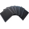 Clevr Black Interlocking EVA Foam Mats Mat w/ drain holes (96 Sq. Ft. - 24 pcs) (CL_CRS804917) - Main Image