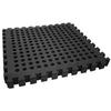 Clevr Black Interlocking EVA Foam Mats Mat w/ drain holes (96 Sq. Ft. - 24 pcs) (CL_CRS804917) - Alt Image 6