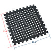 Clevr Black Interlocking EVA Foam Mats Mat w/ drain holes (96 Sq. Ft. - 24 pcs) (CL_CRS804917) - Alt Image 2