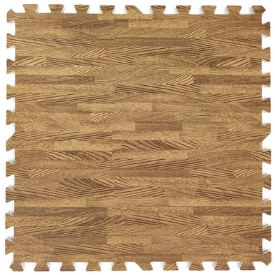 Clevr Light Wood Grain Interlocking EVA Foam Floor Mats (100 Sq. Ft. - 25 pcs) (CL_CRS804922) - Main Image