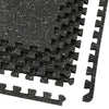"Xspec 1/2"" Thick 48 Sq Ft Rubber Top EVA Foam Gym Mats 12 pcs, Black (CL_CRS804931) - Alt Image 6"