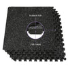 "Xspec 1/2"" Thick 48 Sq Ft Rubber Top EVA Foam Gym Mats 12 pcs, Black (CL_CRS804931) - Alt Image 3"