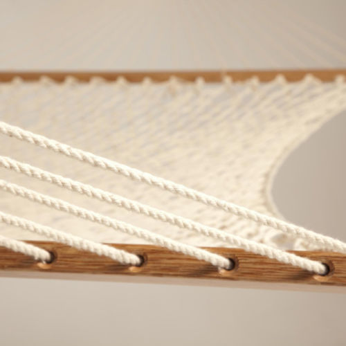Clevr 2 Person Cotton Rope Double Wide Hammock with Solid Wood Spreaders (CL_CRS805005) - Alt Image 3