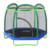 Clevr 7 Ft. Trampoline Bounce Jump Safety Enclosure Net W/ Spring Pad Round (CL_CRS805404) - Alt Image 1