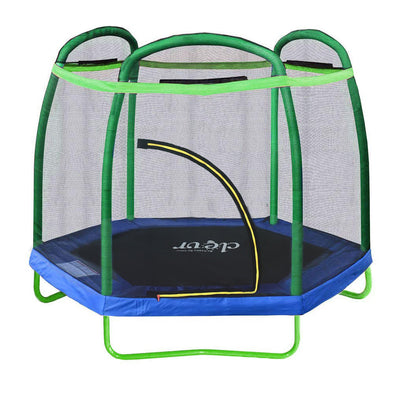 [product_tag] , Clevr 7 Ft. Trampoline Bounce Jump Safety Enclosure Net W/ Spring Pad Round - Crosslinks