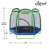 Clevr 7 Ft. Trampoline Bounce Jump Safety Enclosure Net W/ Spring Pad Round (CL_CRS805404) - Alt Image 3