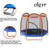 Clevr 7 Ft. Trampoline Bounce Jump Safety Enclosure Net W/ Spring Pad Orange (CL_CRS805406) - Alt Image 1