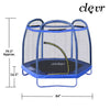 Clevr 7 Ft. Trampoline Bounce Jump Safety Enclosure Net W/ Spring Pad Blue (CL_CRS805407) - Alt Image 2