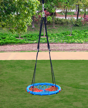 "[product_tag] , 24"" Tire Web Swing 71"" Nylon Rope Swivel Tree Net No assembly 600lb limit - Crosslinks"