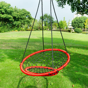 "[product_tag] , 30"" Outdoor Toys Saucer Net Tree Swing Children Web Tire Target Chair, Red - Crosslinks"