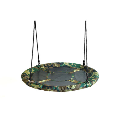 "Clevr 40"" Outdoor Saucer Kids Tree Tire Swing, Camo (CL_CRS805813) - Main Image"