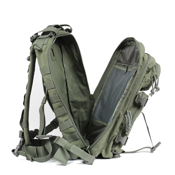 Qwest 30L Outdoor Tactical Military Style Gear Pack Backpack, Drab Green (CL_CRS806002) - Alt Image 9