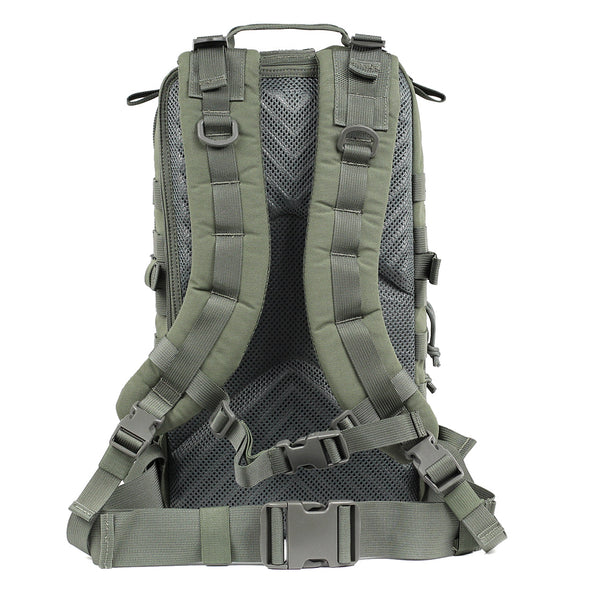 Qwest 30L Outdoor Tactical Military Style Gear Pack Backpack, Drab Green (CL_CRS806002) - Alt Image 2